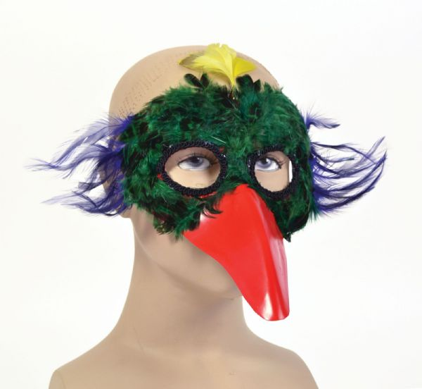 Bird Feather/Plastic Beak x 3 styles Eyemask Flying Animal Fancy Dress